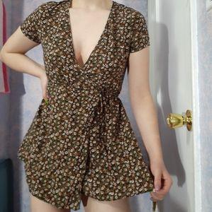 Valfre mini wrap dress